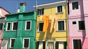 Burano wearing its colors
